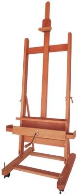 MABEF M/05 Small Studio Easel, Oiled Beech wood, Crank operated