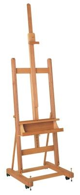 MABEF M/06 Studio Easel, Oiled Beech wood, Adjustable height with ratchet action
