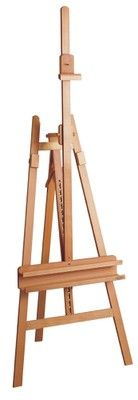 MABEF M/11 Inclinable Artists' Lyre Easel, Oiled Beech wood
