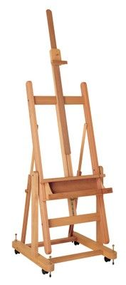 MABEF M/18 Studio Easel, Oiled Beech wood, Convertible base