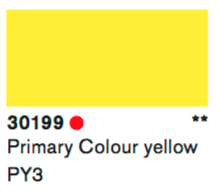 Lascaux Gouache 30199 Primary Colour Yellow 500ml