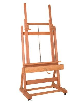 MABEF M/02 Studio Easel, Oiled Beech wood, Crank operated