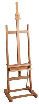 MABEF M/09 Studio Easel, Basic with Tray, Oiled Beech wood, Adjustable height with ratchet action