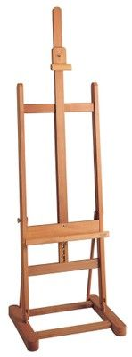 MABEF M/10 Studio Easel, Basic, Oiled Beech wood, Adjustable height with ratchet action